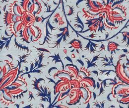 CHINTZ HOLLANDAIS 1020 BLEU CLAIR